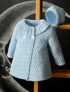 Beautiful Coat - Free Knitting PatternRiver Otter Knitting Pattern for Shirley Bear - Available again thanks to Deramore's! Baby Knitting Patterns, Knitting Designs, Baby Patterns, Free Knitting, Knitting Sweaters, Baby Sweaters, Knitting Projects, Crochet Patterns, Crochet Dress Girl