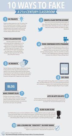 10 ways to fake 21st century classroom