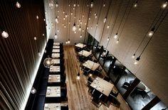 architecture  brown  design  lights  restaurant  style  tokyo  village  yoyogi
