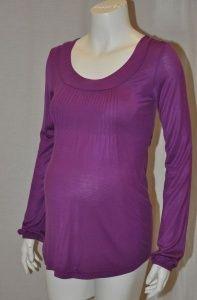 Valja Bright Purple Maternity Top