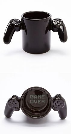 Gamer coffee mug // Game over. #product_design