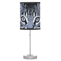 Cute Kitty Table Lamp - funny comic style comics geek geeks lol fun cyo