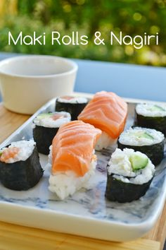 Craft Cook Love: Φτιάξε εύκολα sushi: maki rolls & nagiri - Making maki rolls & nagiri My Favorite Food, Favorite Recipes, Sushi Rolls, Banquet, Street Food, Vegan, Cooking, Ethnic Recipes, Greek