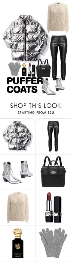 """STAYING WARM WITH PUFFER COATS"" by andreamartin24601 ❤ liked on Polyvore featuring Ivy Park, Yves Saint Laurent, Mulberry, Alexander McQueen, Christian Dior, Clive Christian and L.K.Bennett"