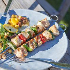Hähnchen-Gemüse-Spieße Rezept | Weight Watchers