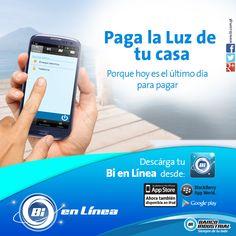 ¡Descarga la app de Bi en Línea y paga la luz y mucho más desde tu celular! #BancaModerna #BiEnLinea #BancoIndustrial #ProductosYServicios