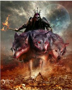 Hades, God of death and the underworld by Cold-Tommy-Gin on DeviantArt Dark Fantasy Art, Fantasy Wolf, Dark Art, Greek Mythology Tattoos, Greek And Roman Mythology, Greek Gods And Goddesses, Mythological Creatures, Fantasy Creatures, Mythical Creatures