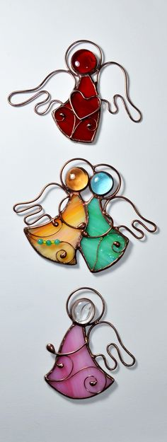 #Stainedglassangels #KamillaArt #Tiffany #angel #glassart #handmade #unique #baptism