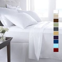 Today Offer 4PCs sheet set Taupe Solid Egyptian Cotton Queen Size 18/'/' Drop