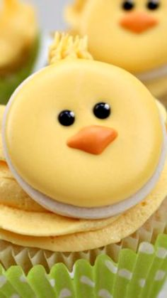 How To Make Cute Little Chick Cupcake CookieToppers