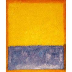 Rothko - Yellow, Blue, and Orange