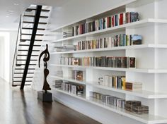 Built In Bookshelves Apartment Design Soho Interior Library Wall
