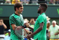 Federer and Tiafoe, Miami 2017 #RogerFederer #FrancesTiafoe