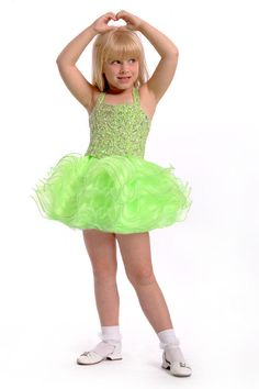 Perfect Angels Little Girls Pageant Dress 5T Lime New Cup Cake 1454