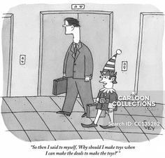 Colin Stokes shares a collection of New Yorker cartoons with a holiday theme: Christmas, New Year's, Santa, and more. Business Cartoons, New Yorker Cartoons, Holiday Themes, The New Yorker, I Said, Funny Cartoons, Jokes, Lol, Humor