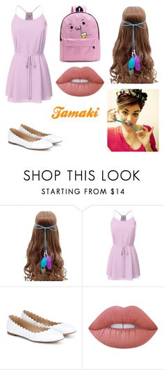"""""""Tamaki"""" by lilibessa on Polyvore featuring Chloé, Lime Crime and WithChic"""