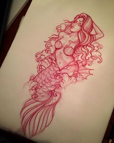 Traditional Nautical Tattoo, Traditional Mermaid Tattoos, Traditional Tattoo Sketches, Traditional Tattoo Old School, Tattoo Traditional, Mermaid Sleeve Tattoos, Mermaid Tattoo Designs, Octopus Tattoo Design, Mermaid Drawings