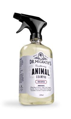 """""""Dr. McGrath's Animal Shampoo was created in her honor, and a portion of the proceeds go to two different scholarships in her name that support students in Animal Sciences. With a touch of humor the packaging and website pay tribute to Dr. McGrath and the time period she lived in."""""""