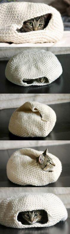 How to Make a Handmade Crochet Cat Bed. « 9greg