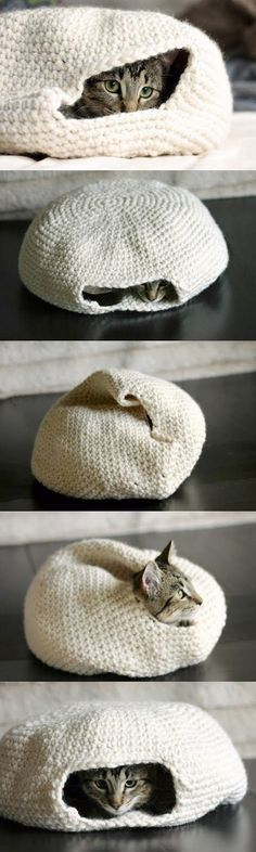 How to Make a Handmade Crochet Cat Bed. « 9greg