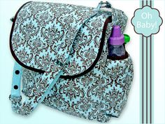 Oh Baby! with Fabric.com: Beautiful Diaper Bag | Sew4Home   This would make a great project bag too  :)