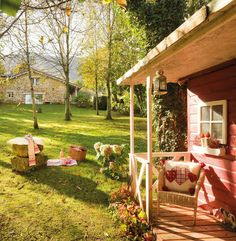 Art Symphony: A fairy house in the woods Fairytale Home Decor, Patio Grande, Spanish Garden, Garden Design, House Design, Outdoor Dining, Outdoor Decor, Cottage Style Decor, Big Houses