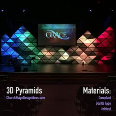 3D Pyramids. I am VERY interested in using this medium of Coroplast and love the geometric design. Easter?