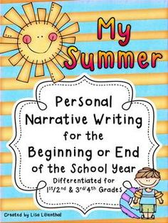 Students will love writing about their plans for the summer with this end of year narrative writing project! It can also be used as a back to school writing activity for students to tell about their summer experiences.