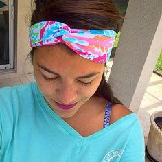 Lilly Pulitzer Lets Cha Cha Turban Headband by FabricBowsforDays
