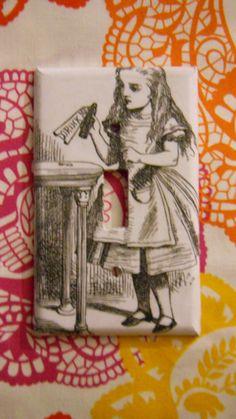 Alice in Wonderland light switch plate