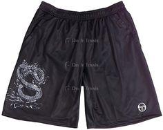 Sergio Tacchini Dynamic Merch #Tennis Shorts (Black/ White)
