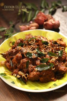 Ulli Chicken recipe – A super simple chicken fry recipe that is Christmas special recipe made with small onions, red chillies, and very few spices. We also call this as chicken Ulli milagu. It is semi-dry, spicy and very delicious chicken fry. This chicken Ulli milagu is made often at my home next to chicken...Read More South Indian Chicken Recipes, Fried Chicken Recipes, Clean Chicken, Food Advertising, Marinated Chicken, Yum Yum Chicken, Special Recipes, Super Simple, Onions