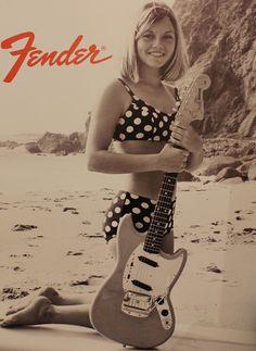 Fender Ad #advertising #vintage #history #music #fender #fender guitar #guitar…