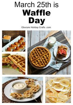 What waffles are you making to celebrate Waffle Day? Check out these amazing waffle recipes! Waffle Day, Waffle Iron, Waffle Recipes, Brunch Recipes, Diy Ideas, Food Ideas, Party Ideas, Breakfast Ideas, Breakfast Recipes