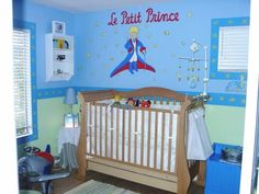 Le Petit Prince - The Little Prince theme baby room / nursery I painted for my baby boy