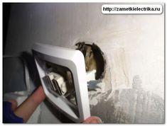 Снимаем выключатель Electric