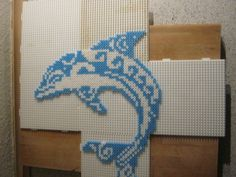 Dolphin hama beads by Black18Cat on deviantART
