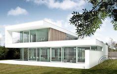 Havesiden Modern Architecture, Villa, Houses, Building, Outdoor Decor, Home Decor, Homes, Decoration Home, Room Decor