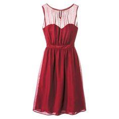 TEVOLIO™  Women's Chiffon Illusion Sleeveless Dress - Fashion Colors