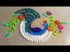 How to make easy and simple/unique sankrant rangoli designs by Jyoti Rathod,festival - YouTube
