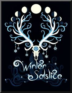 {Rune Circle - Yule} by {fibacz} Merry Yule and a Blessed Winter Solstice to you all Hirsch Wallpaper, Pagan Art, Pagan Yule, Pagan Witchcraft, Sabbats, High Fantasy, Book Of Shadows, Illustrations, Religion