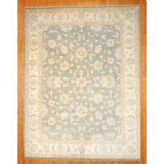 Afghan Hand-knotted Vegetable Dye Light Green/ Ivory Wool Rug (10' x 13') $1594