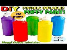 Como Hacer Pintura Casera  3D Puffy Paint