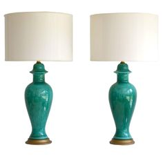 Pair of Hollywood Regency Ginger Jar Form Ceramic Table Lamps | 1stdibs.com
