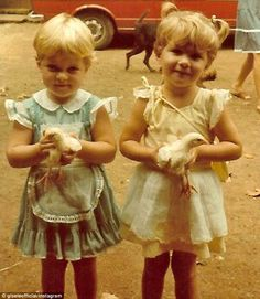 Already very cute: Gisele Bundchen (right) shared this Throwback Thursday photo of herself...