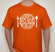 #DennysNKH | End Childhood Hunger with Denny's and No Kid Hungry Fundraiser - unisex shirt design - front