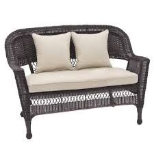 Product: LoveseatConstruction Material: Resin wicker and steel Color: BlackFeatures: Crafted to withstand inclement weatherDimensions: H x W x DNote: Cushions not includedCleaning and Care: Hose off and wipe clean Outdoor Wicker Furniture, Wicker Sofa, Sofa Furniture, Outdoor Sofa, Outdoor Decor, Indoor Outdoor, Outdoor Living, Wicker Dresser, Wicker Man
