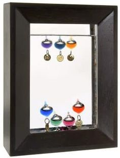 Buy Lily's Home Rectangle Wood Frame Galileo Thermometer with 7 Multi Color Floats and Gold Temperature Tags Galileo Thermometer, Small House Living, Weather Instruments, Home Accessories, Lily, Holiday Decor, Wood, Frame, Tags
