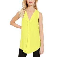 212e4ca00a5 FashionZone New Fashion Plus Size 6XL Summer Chiffon Sleeveless V-Neck  Style Casual T-