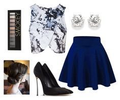 """""""Untitled #356"""" by crystalbows ❤ liked on Polyvore featuring Topshop, Casadei and Forever 21"""